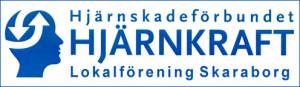 Logga hjärnkraft Skaraborg blå ram